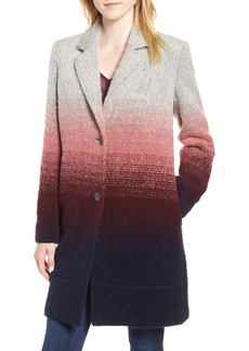 Andrew Marc Ombré Two-Button Car Coat