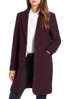 Andrew Marc Paige Wool Blend Bouclé Coat