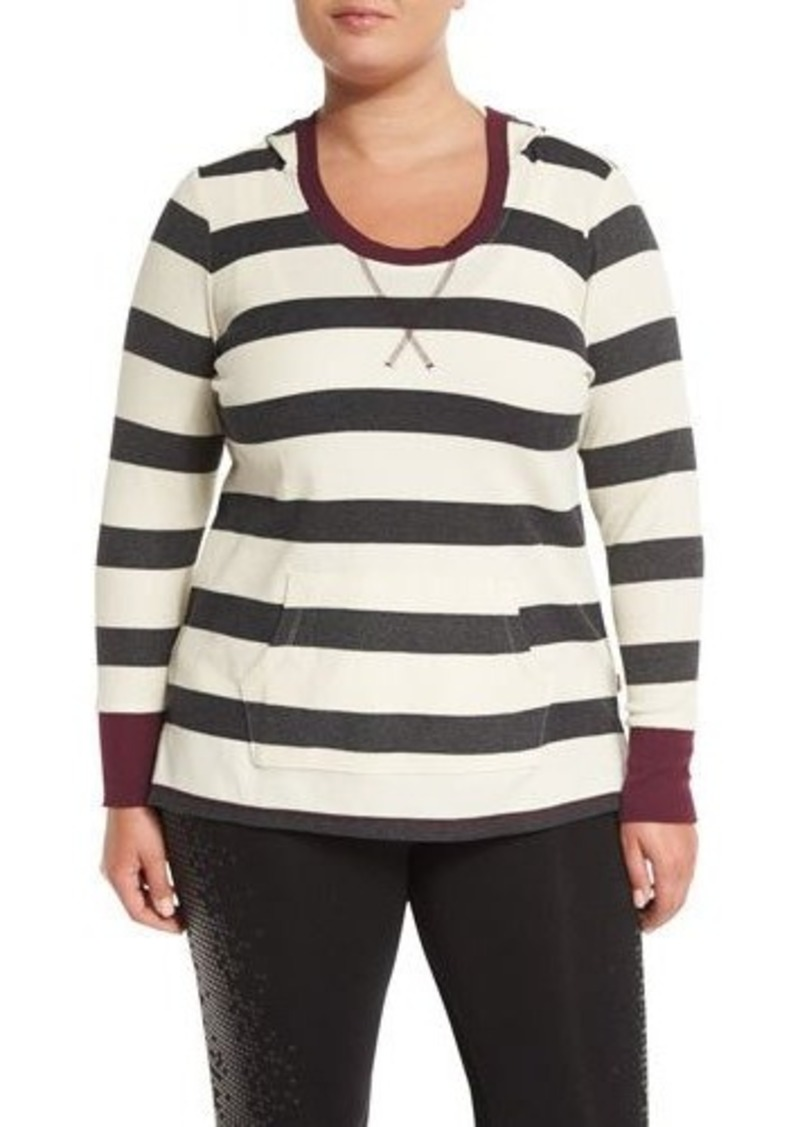 Andrew Marc Performance Stripe-Print Hooded Top