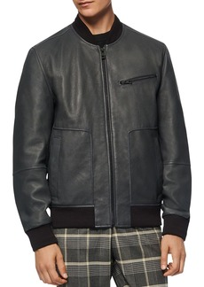 Andrew Marc Praslin Leather Bomber Jacket