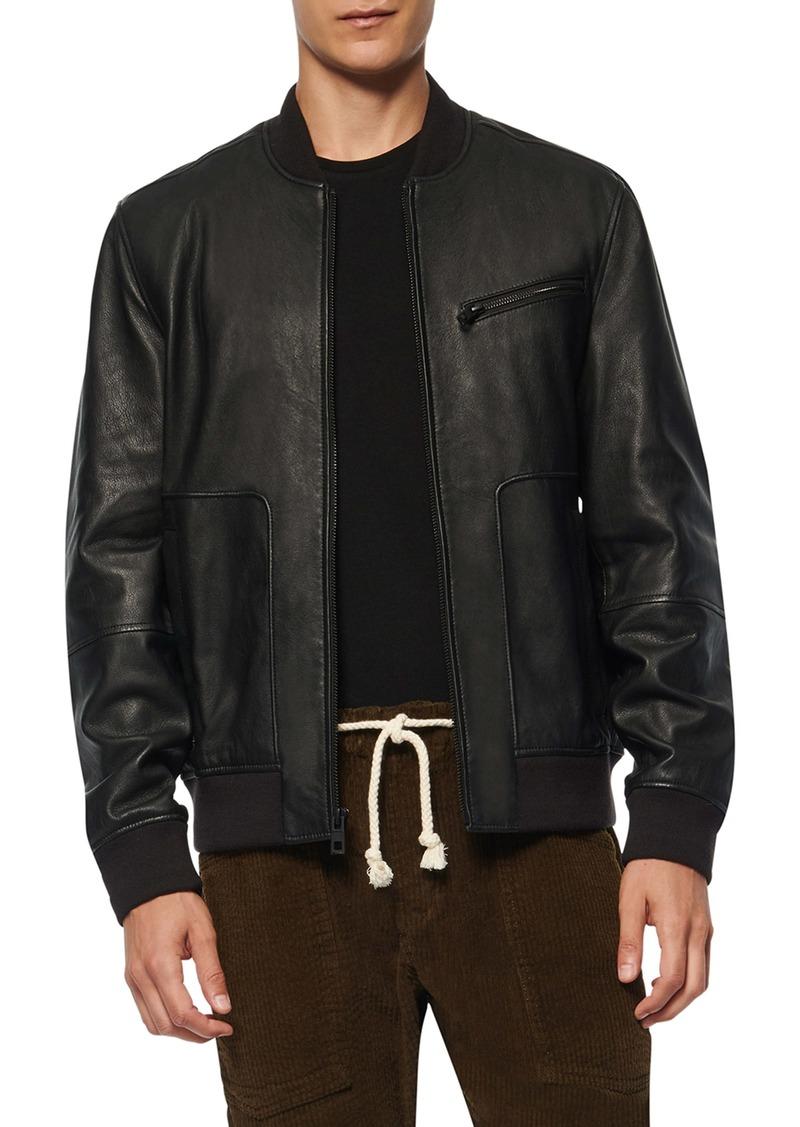 Andrew Marc Praslin Zenith Lambskin Leather Bomber Jacket