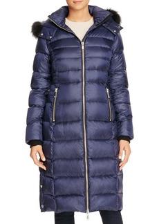 Andrew Marc Savannah Fur Trim Maxi Coat