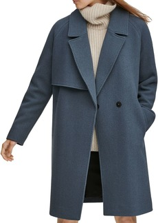 Andrew Marc Sculpted Twill Notched Collar Coat