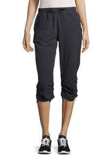 Andrew Marc Solid Banded Waist Capri Pants