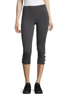 Andrew Marc Solid Cutout Leggings