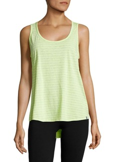 Andrew Marc Striped Cotton-Blend Tank Top