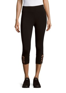 Andrew Marc Two-Tone Knit Ankle Leggings