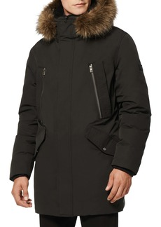 Andrew Marc Ventura Quilted Down Coat with Genuine Shearling & Faux Fur Trim