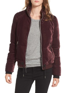 Andrew Marc Vita Down & Feather Fill Quilted Velvet Jacket