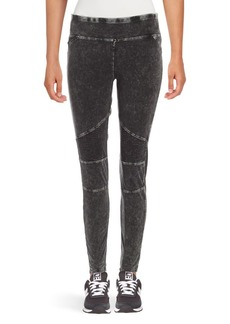 Andrew Marc Washed Cotton-Blend Leggings