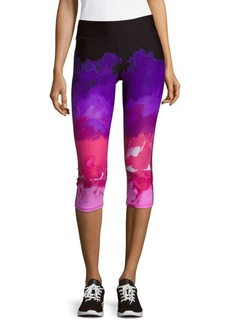 Andrew Marc Watercolor Pull-On Leggings