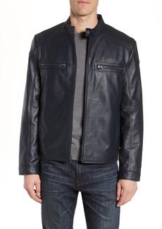 Andrew Marc Wendell Lambskin Moto Jacket