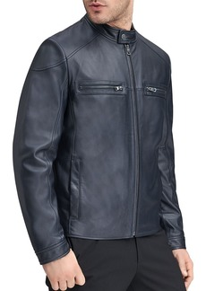 Andrew Marc Wendell Leather Racer Jacket