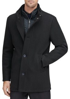 Andrew Marc Westcott Bib-Front Stretch Car Coat
