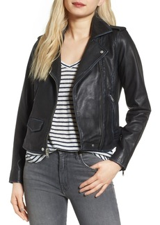 Andrew Marc Whitney Washed Leather Crop Jacket