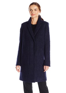 Andrew Marc Women's Boucle Wool Notch Collar Coat