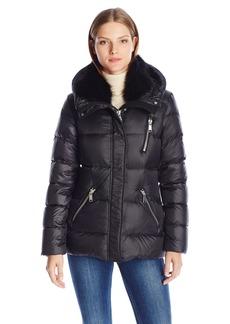 Andrew Marc Women's Chloe Dyed Fox Fur Detachable Collar Down Coat  S