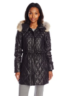 Andrew Marc Women's Diamond Quilt Down Parka