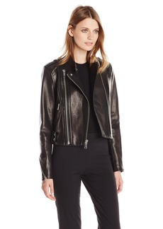 Andrew Marc Women's Leather Moto Jacket