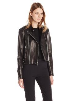 Andrew Marc Women's Leather Moto Jacket