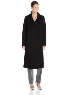 Andrew Marc Women's Long Wool Notch Collar Coat