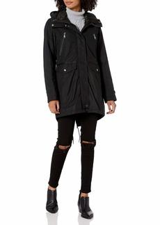 Andrew Marc Women's Stacey Hooded Rain Jacket
