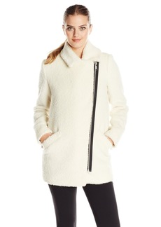 Andrew Marc Women's Wool Moto Cocoon Coat
