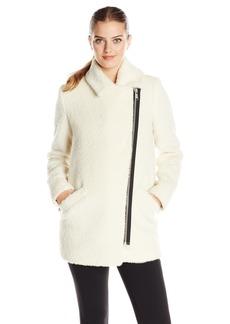 Andrew Marc Women's Wool Moto Cocoon Coat