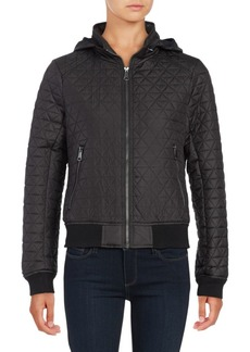 Andrew Marc Zip-Out-Hood Quilted Coat