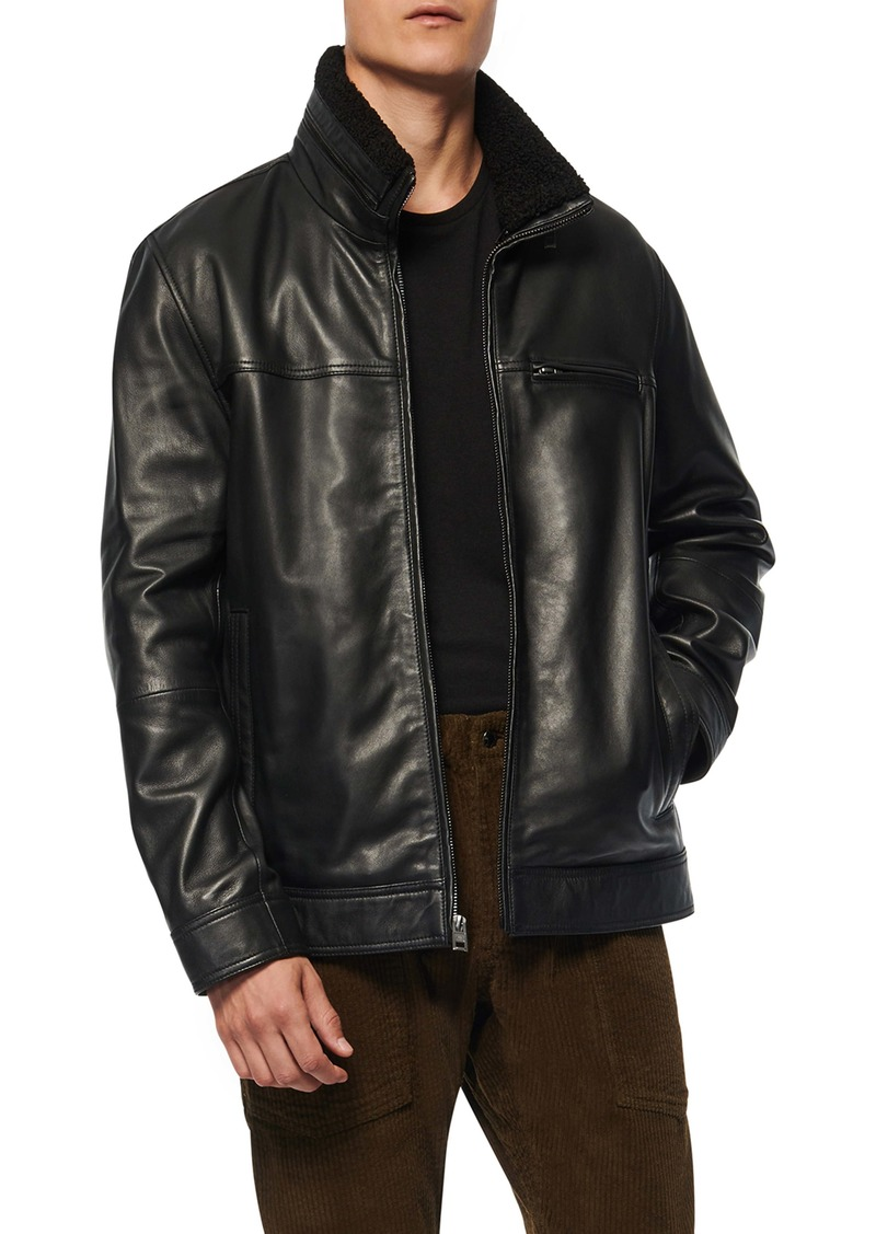 Andrew Marc Lambskin Leather Jacket