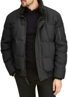 Andrew Marc Bennet Core Fox-Fur Trimmed Down Bomber Jacket