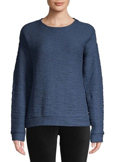 Andrew Marc Boucle-Knit Sweatshirt