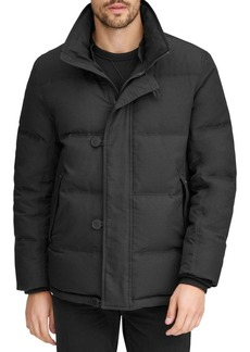 Andrew Marc Bryant Rabbit Fur-Collar Mid-Length Down Parka