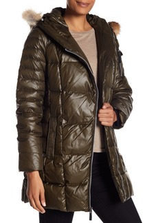 1f051280be9 Andrew Marc Down & Feather Fill Coat with Genuine Coyote Fur
