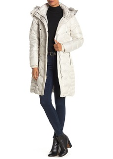Marc New York Faux Fur Hood Belted Puffer Coat