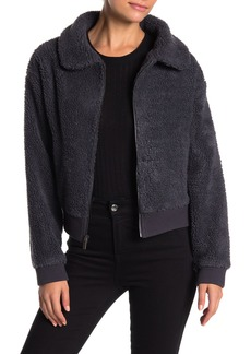 Andrew Marc Faux Shearling Grizzly Bomber Jacket