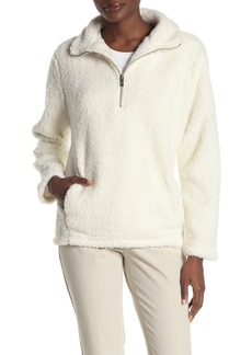 Andrew Marc Faux Shearling Teddy Partial Zip Jacket