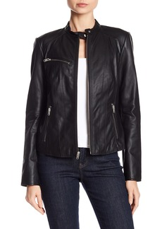 Andrew Marc Felicity Leather Jacket