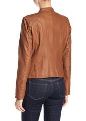 Andrew Marc Felicity Leather Moto Jacket
