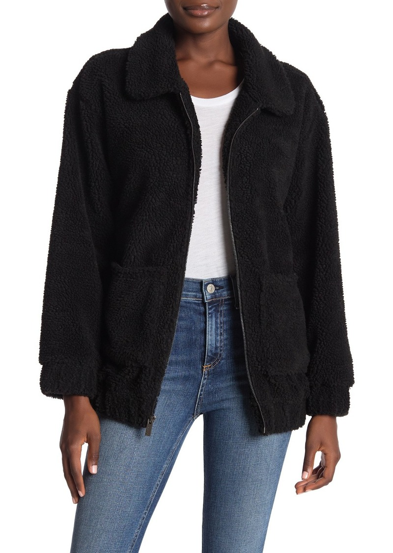 Marc New York Front Zip Faux Shearling Jacket