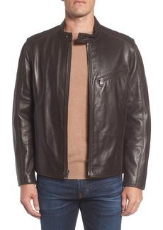 Andrew Marc Gibson Slim Leather Moto Jacket