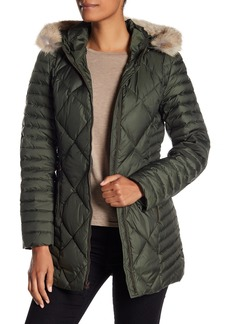 Andrew Marc Hooded Coat with Genuine Coyote Fur Trim