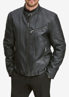 Andrew Marc Killian Faux Leather Moto Jacket