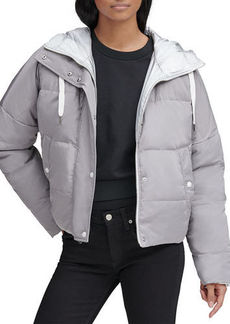Andrew Marc Luna Lightweight Reversible Metallic Down Jacket