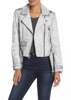 Andrew Marc Madison Crackle Leather Moto Jacket