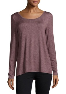Marc New York Andrew Marc Lace-Up Roundneck Tee