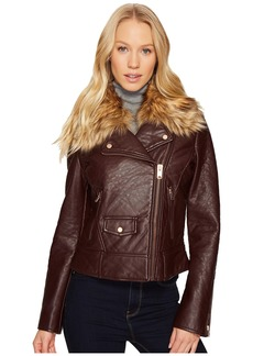 "Marc New York Beverly 20"" Faux Bubble Leather Jacket"