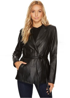 "Farley 25"" Feather Leather Jacket"