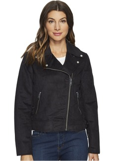 """Farryn Faux Suede 21"""" Moto Jacket"""