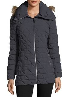Marc New York by Andrew Marc Faux-Fur Trimmed Quilted Puffer Jacket